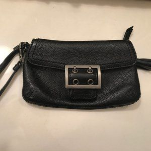 Banana Republic Black Leather Clutch Purse